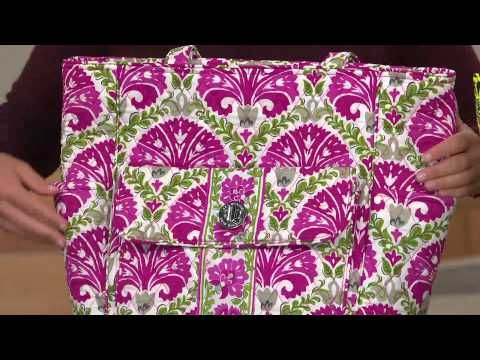 Vera Bradley Signature Print Tablet Tote with Courtney Cason - YouTube