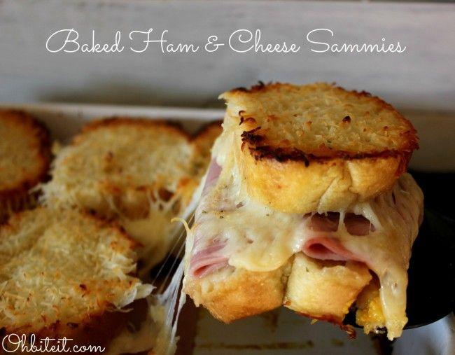 Baked Ham & Cheese Sammies