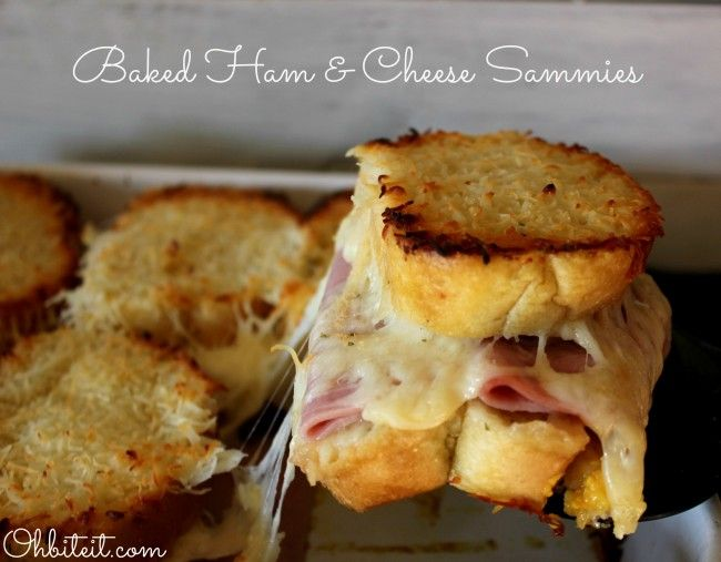Baked Ham & Cheese Sammies