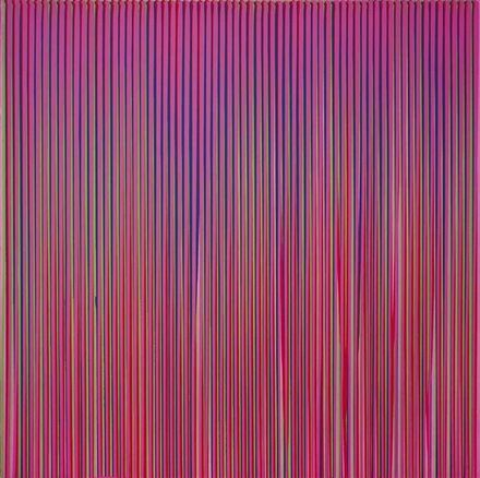 Poured Lines: Light Violet, Green, Blue, Red, Violet - Ian Davenport