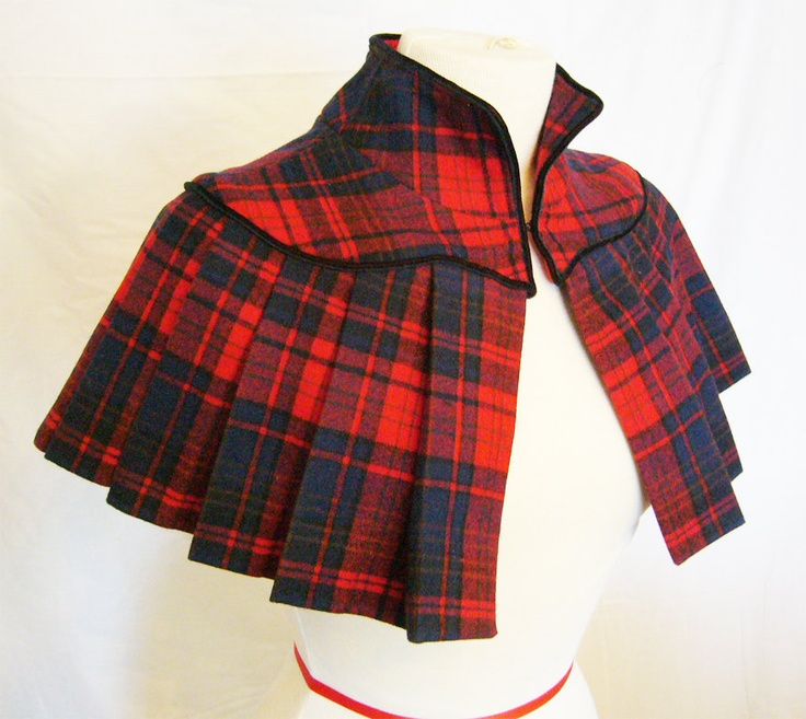 Vintage Inspired Pleated Wool Capelet / thomasogdendesigns via etsy
