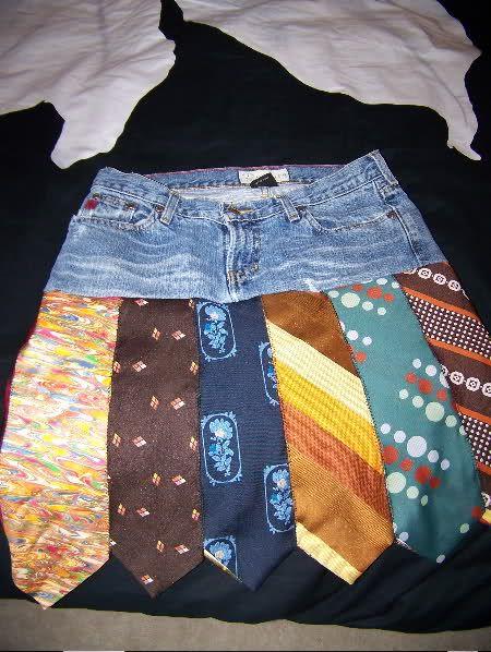 Jean Tie Skirt.