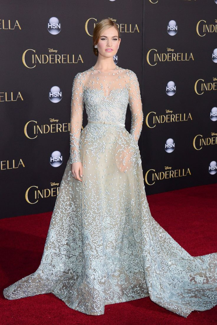 Best dressed - Lily James in an Elie Saab Haute Couture gown. Click through to see this week's best dressed list