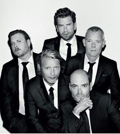 Left to right - Nicolas Bro, Mads Mikkelsen, Nikolaj Lie Kaas, David Dencik and Søren Malling.