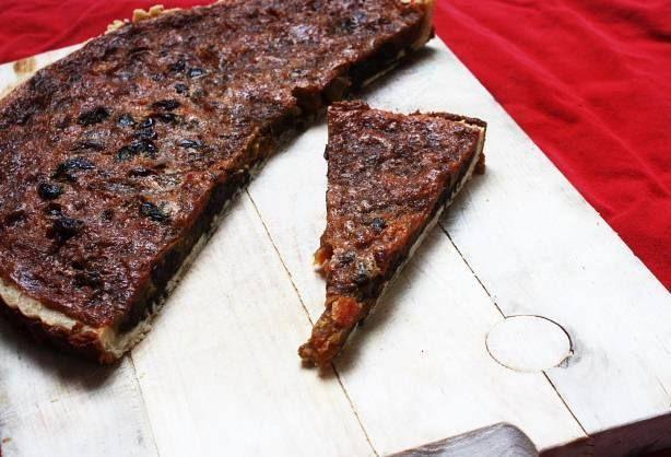 Ecclefechan tart. N.B. that black treacle is molasses. YUM.