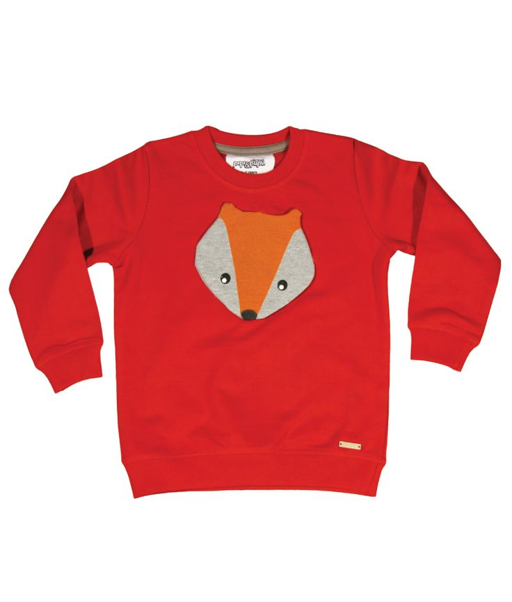 Super soft brushed organic cotton long sleeve kids sweatshirt with fox face patch and wooden logo badge.  100% organic cotton - fuzzy and warm for winter.  Unisex regular fit. Baby sizes have snap buttons on back for extra comfort.  Packaged in gift box making for a perfect gift!  PIPI &...