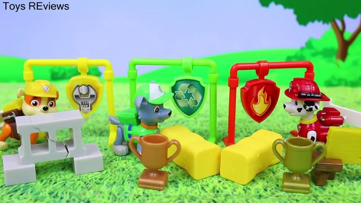 "Paw Patrol Super Pup Apollo Runs with Chase Marshall Rubble and Rocky in Track and Field Pups Paw Patrol Super Pup Apollo runs with Chase and Marshall with Rubble and Rocky in this track and field pups set by ToysReviewToys. The Paw Patrol compete in track and field day. Marshall and Rocky and Rubble all disqualify. The Paw Patrol Super Pup Apollo runs through the obstacle course perfectly and wins the Paw Patrol competition. This video is made the ""ToysReviewToys"" channel in collaboration…"