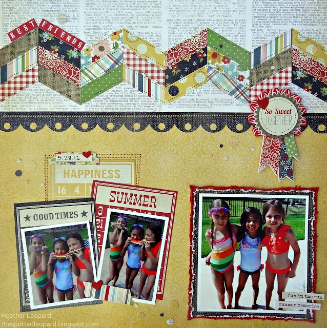 Layout by Heather Leopard: Galleries Originals, Creswell Leopards, Best Friends Forever, Friends Layout, 01 25 Pm, 0125 Pm, Scrapbook Layout, Heather Leopards, Creswel Leopards