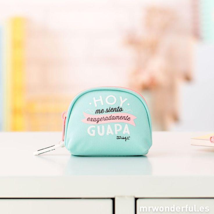 """Monedero """"Hoy me siento exageradamente guapa"""" #purse #mrwonderfulshop #backtoschool"""