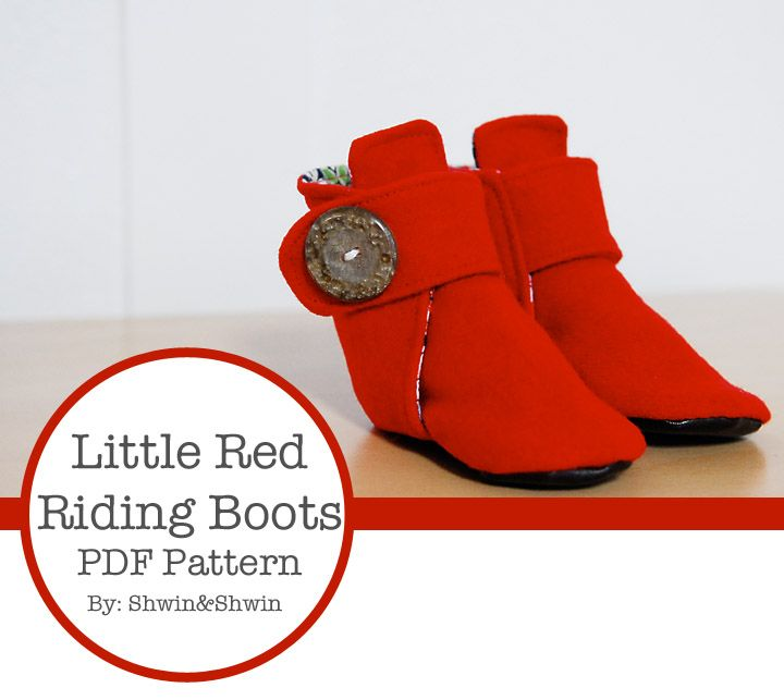 Little Red Riding Boots {Free PDF Pattern}