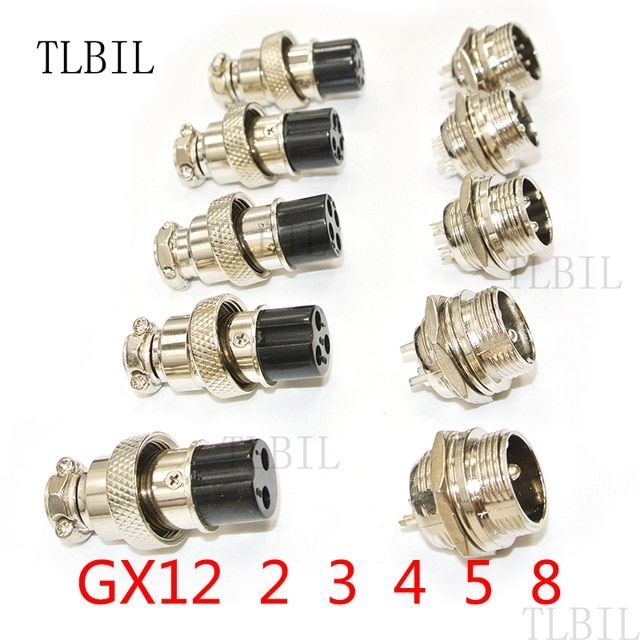 1set Gx12 2 3 4 5 6 Pin Male Female 12mm L88 93 Circular Aviation Socket Plug Wire Panel Connector With Plastic Cap Lid Plugs Plastic Caps Light Accessories