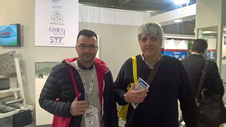 MecSpe Parma 17-19/3/2016. Villaggio Confartigianato. I Dirigenti di Confartigianato Meccanica Fabio Sbragi e Massimiliano Grazi