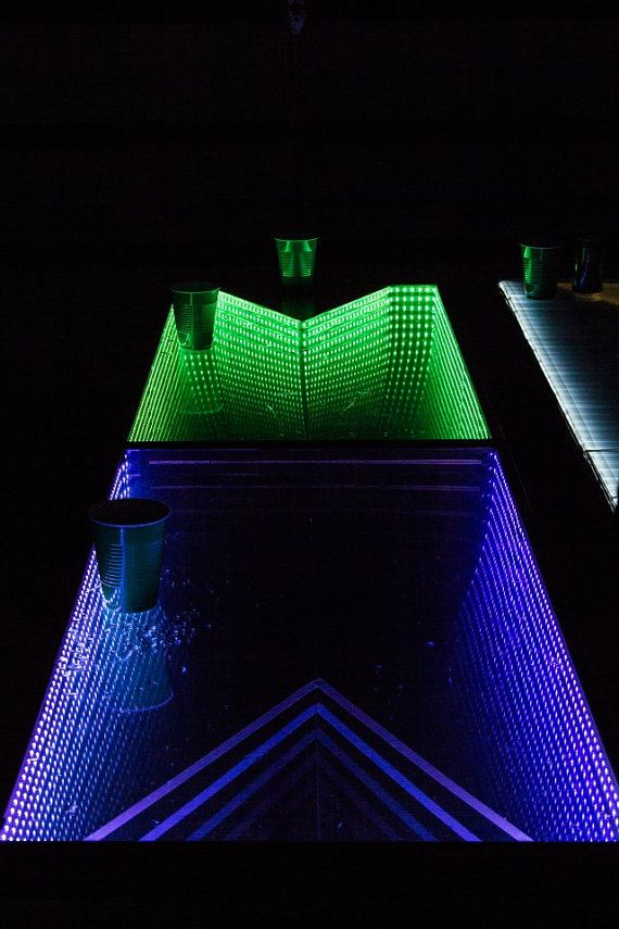 Infinity LED Beer Pong Table with Color by LEDBeerPongTables