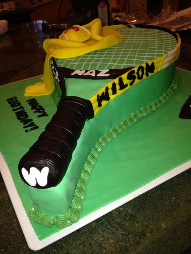 Tennis Racket Cake !