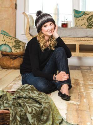 Loops & Threads  Charisma  Seed Stitch Hat (Knit) Yarn Pinterest Se...