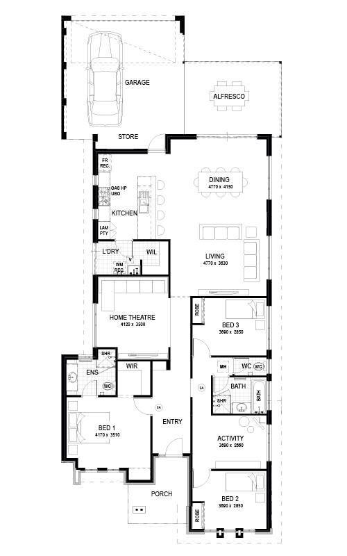 Best Rubix Images On Pinterest Architecture Floor Plans And - Open layout floor plans