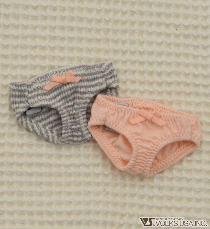 Home :: Dollfie® Outfits :: Lingerie Brand :: Lingerie Box :: Soft Cotton Panties Set / Mini (Pink / Gray Stripes)