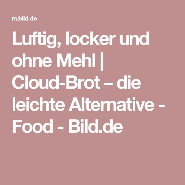 Luftig, locker und ohne Mehl | Cloud-Brot – die leichte Alternative - Food - Bild.de