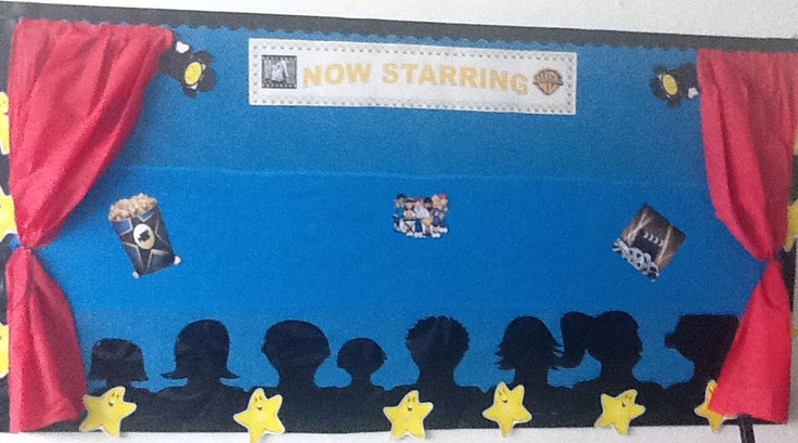 Hollywood Movie Theme Bulletin Board.  Loved it! ;)