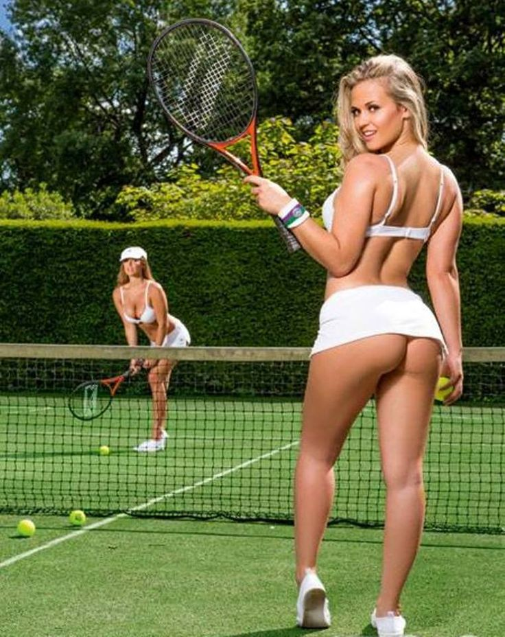 hot girl in tennis court naked