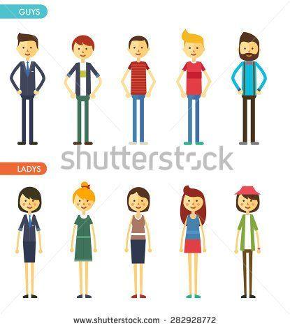 Image result for flat character illustration