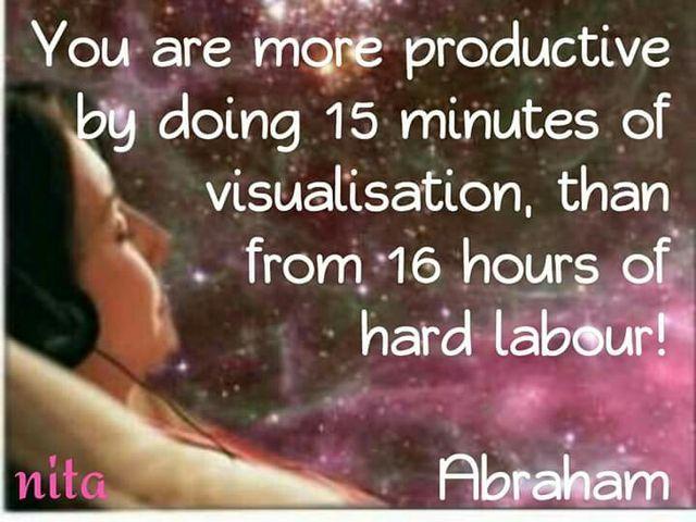 15 minutes of Visualisation. Abrahamhicks