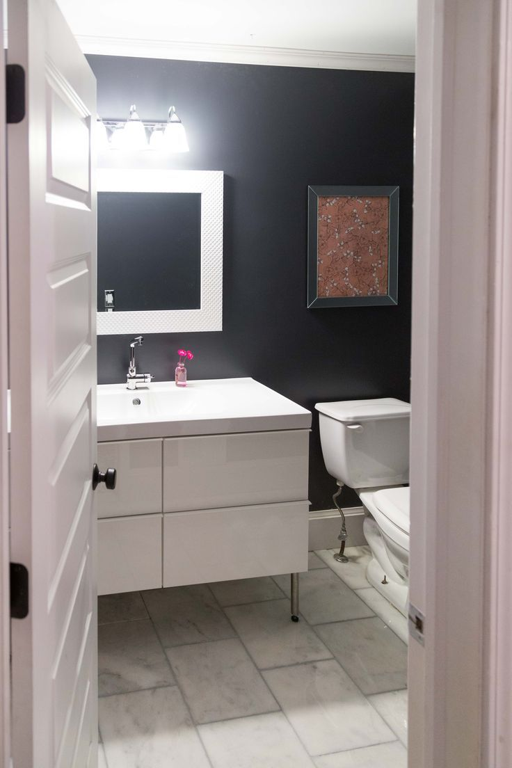 our new powder room  Blue BathroomsBathrooms DecorBlue. 649 Best images about Bathrooms on Pinterest   Cement tiles  Home