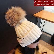 15 cores do Inverno do bebê chapéu feito malha com pele poms poms Unisex gorros de tricô para crianças flexível ocasional tampas de neve para o menino meninas(China (Mainland))