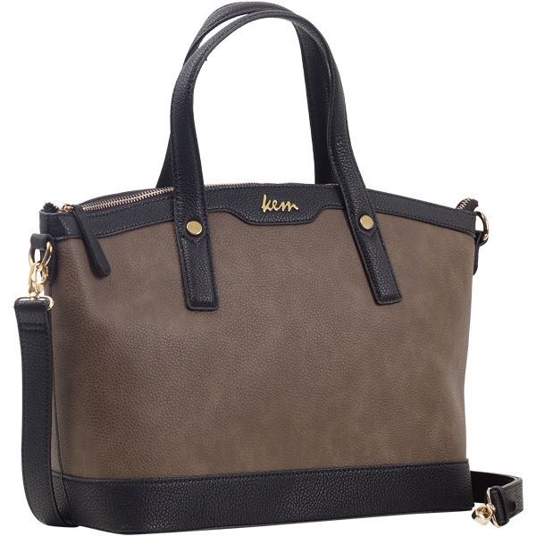Kem bag (taupe+black) boutique Papa k Froufrou