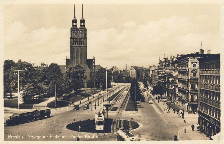 Kościół św. Pawła (Paulus Kirche), Wrocław - 1940 rok, stare zdjęcia pl. Strzegomski