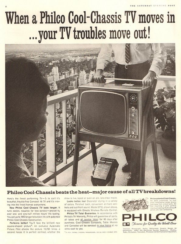 1961 Philco Television Advertisement Saturday Evening Post March 18 1961 | Flickr - Photo Sharing!