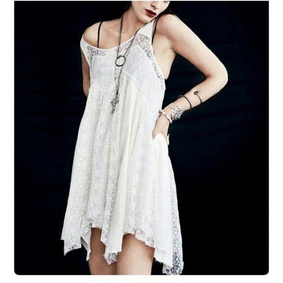 Free people black like a virgin dress Free people like a virgin lace dress. Good condition! Free People Dresses