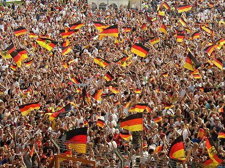 Supporters allemands durant la Coupe du monde de football de 2006.