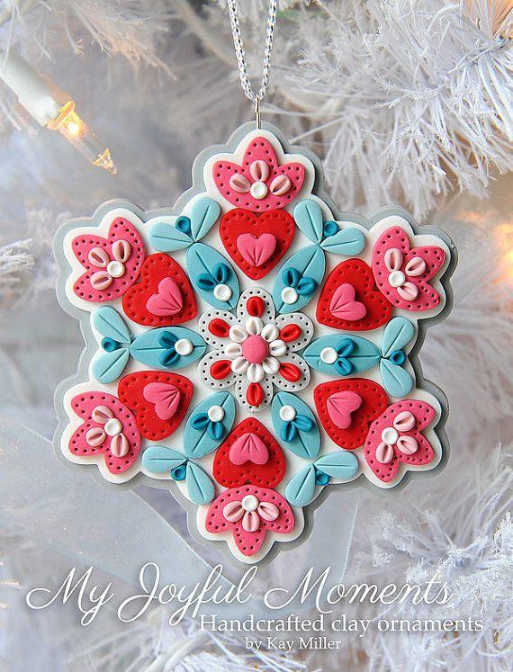 Handcrafted Polymer Clay Ornament por MyJoyfulMoments en Etsy