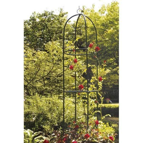 Grande gloriette 2 metres colonne tuteur jardin plante rose rosier grimpant 3 - Support fer forge pour rosier grimpant ...