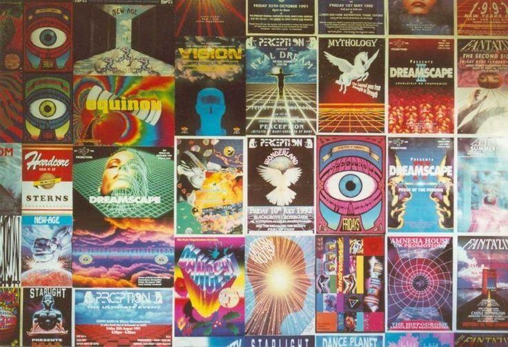 De 51 b sta rave flyer bilderna p pinterest acid house for Acid house rave