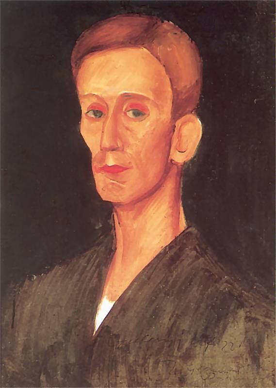 Zygmunt Waliszewski, Portrait of Józef Czapski, ca 1924, oil on cardboard, National Museum Warsaw
