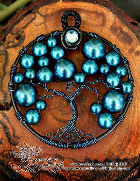 Arbre de vie - arbre de bulle turquoise