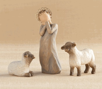 Wonderful new addition to the Willow Tree Nativity set from Susan Lordi.