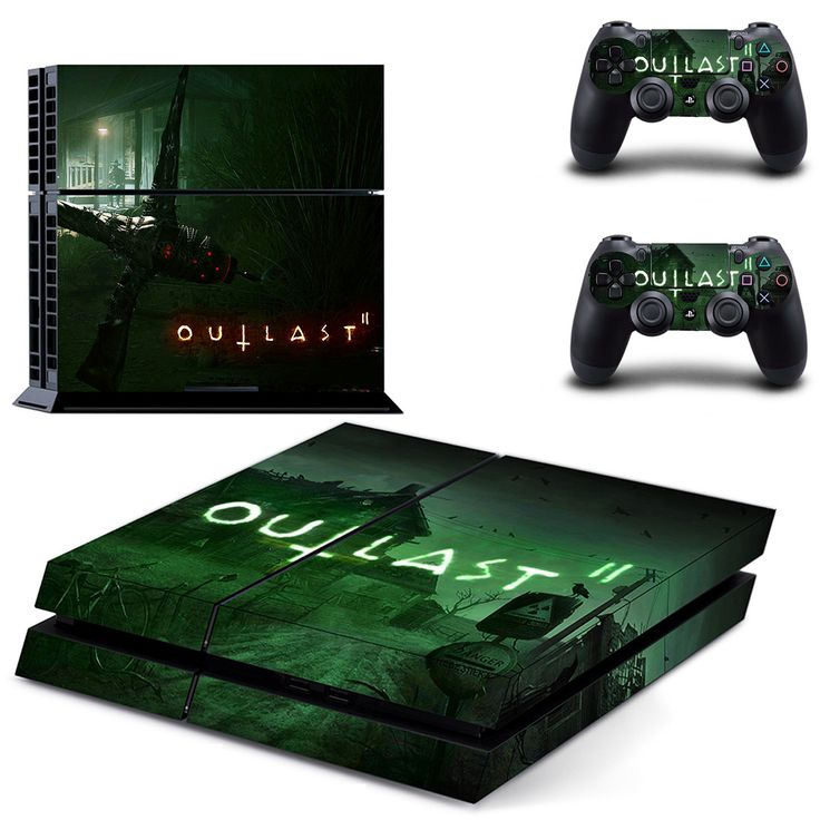 Outlast 2 Ps4 skin decal for console and controllers