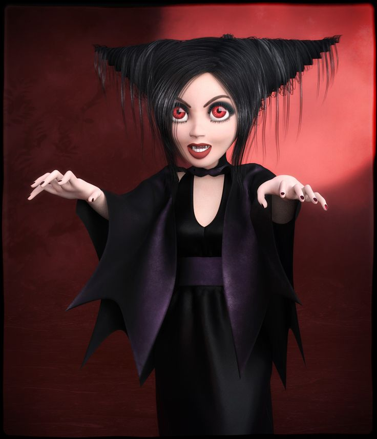 FRQ Dynamics: Vampire Outift for Maisie by Frequency // #poser #renderosity #3d #frequency #vampire #maisie