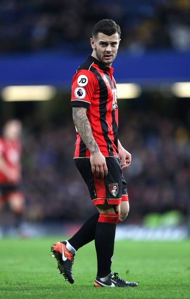 Jack Wilshere of AFC Bournemouth in action during the Premier League match between Chelsea and AFC Bournemouth at Stamford Bridge on December 26, 2016 in London, England.