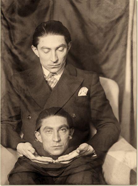 Photo of Benjamin Fondane (1898 – 1944, Auschwitz-Birkenau, Romanian and French poet, playwright, literary critic) by Man Ray, Paris, 1928