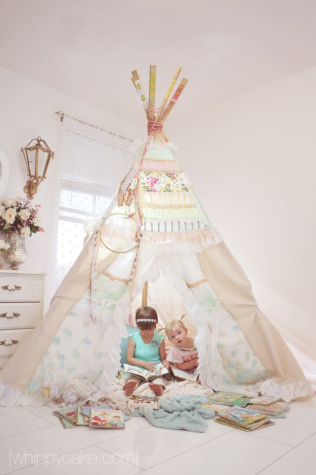 Custom tee pee from Dolly & Frances