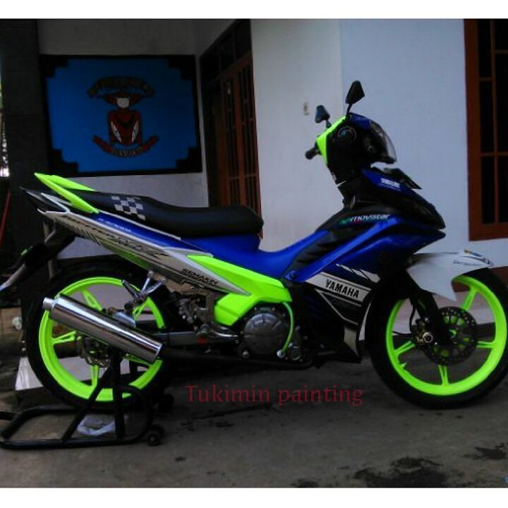 #Yamaha #135lc #spark135 #tukimin #2qspeed #paint #catbody by modifikasi_jupiter_mx_bandung