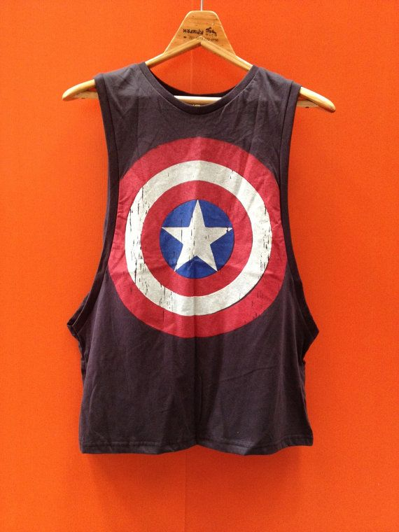 Captain+America+movies+tank+top+sleeve+width++Free+by+Hobbyshirts,+$14.50