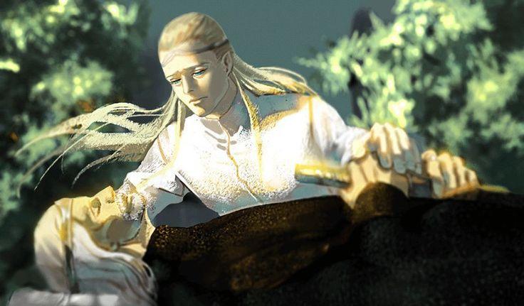 Legolas and Aragorn - bad endings for human life. FUCK. THE FEELS.