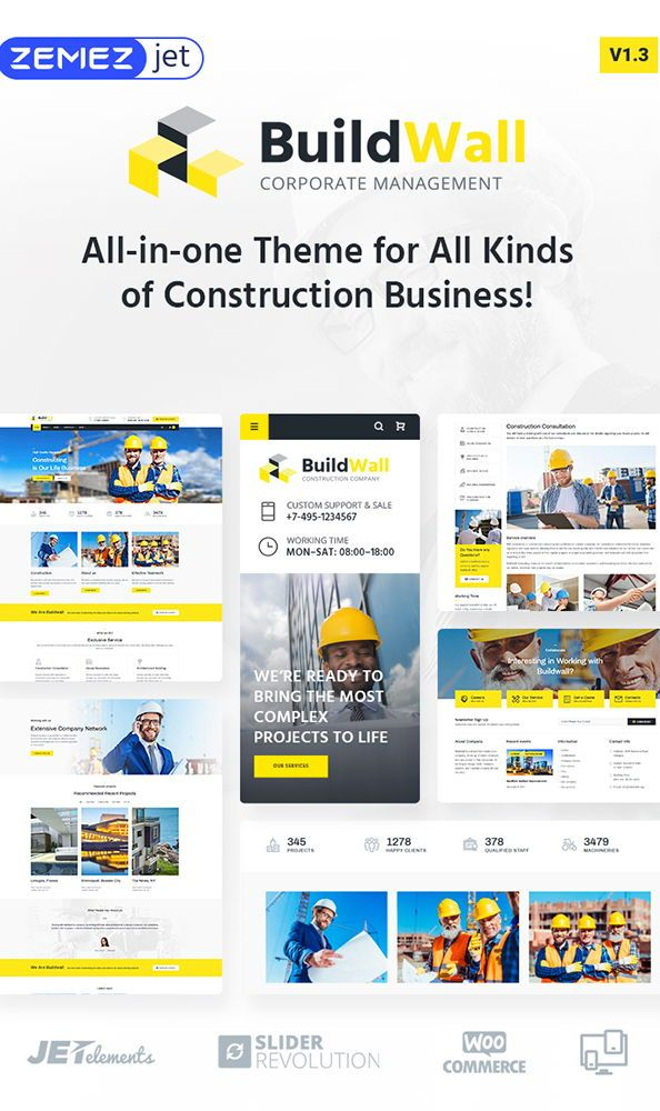 BuildWall - Construction Company Multipurpose WordPress