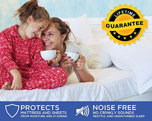 Full Size – Mattress / Bed Cover – Premium Smooth Mattress Protector, 100% Waterproof, Hypoallergenic, Breathable Cover Protection from Dust Mites, Allergens, Bacteria, Urine – TRU Lite Bedding Looking for bedroom furniture ideas?  http://aluxurybed.com/product/full-size-mattress-bed-cover-premium-smooth-mattress-protector-100-waterproof-hypoallergenic-breathable-cover-protection-from-dust-mites-allergens-bacteria-urine-tru-lite-bedding/