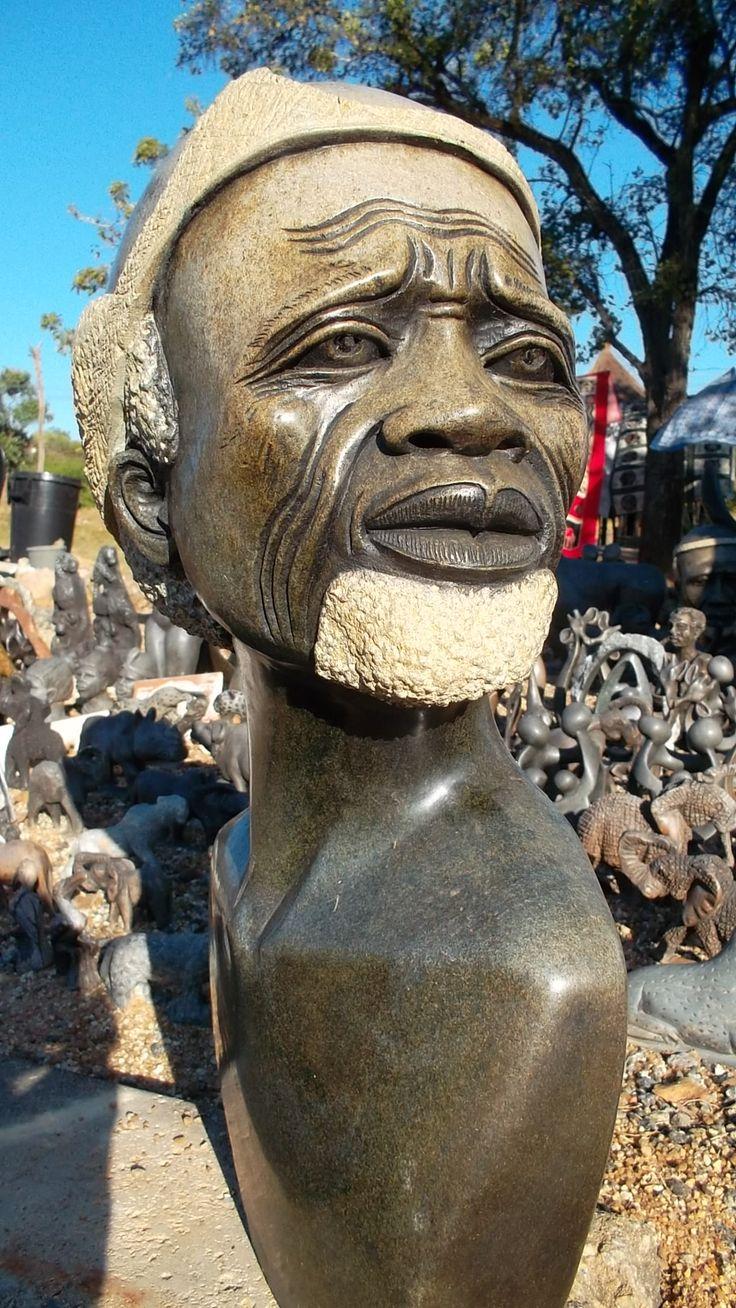 The hunter -stone sculpture by Zimbabwean sculptures